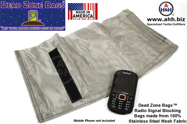 Signal Blocking Bags & Faraday Pouches by Dead Zone Bags™ - Small Size for Phones and Handheld mobile devices