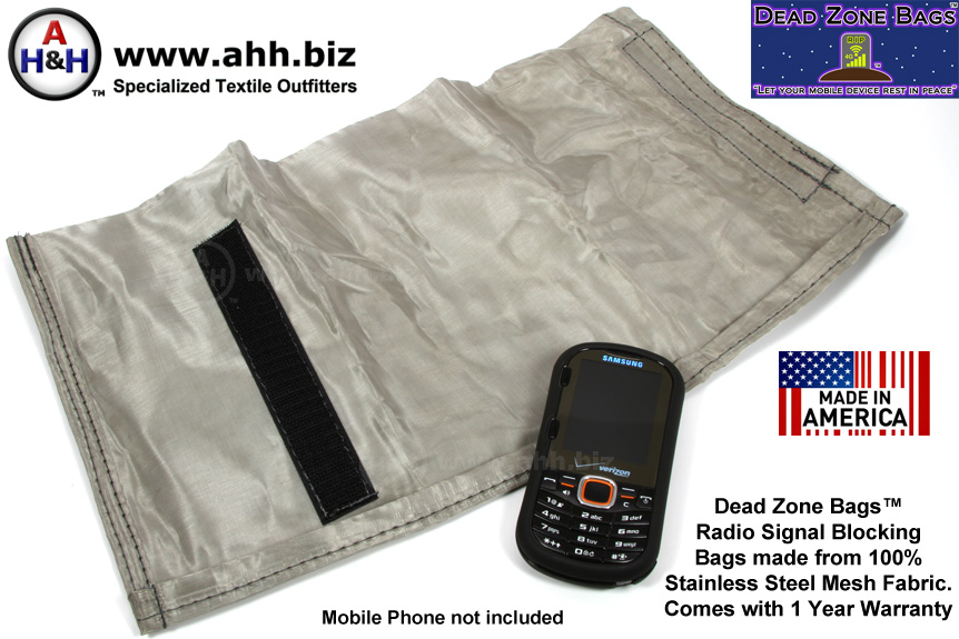 Dead Zone Bags™ - Radio Signal Blocking for Mobile Devices - Take Back your Privacy!