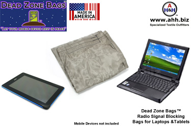 Signal Blocking Bags & Faraday Pouches by Dead Zone Bags™ - Large Size for Laptops and Tablets